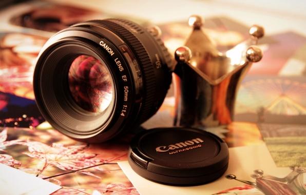 Картинка фон, widescreen, обои, камера, корона, фотоаппарат, wallpaper, крышка, разное, canon, широкоформатные, background, полноэкранные, HD wallpapers, …