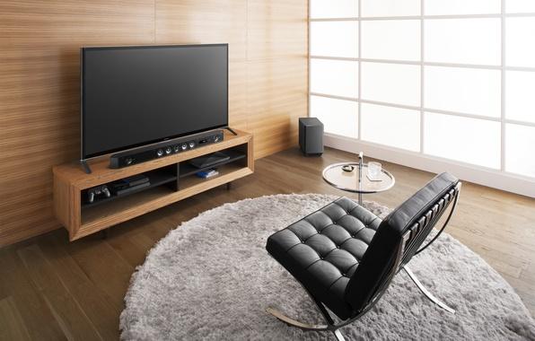 Картинка интерьер, кресло, logo, Sony, hi-tech, HT-ST9, саундбар