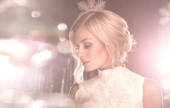 Картинка свет, снежинки, розовый, Katherine Jenkins