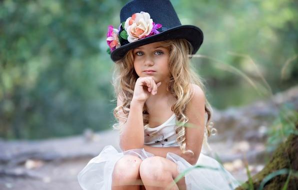 Картинка девочка, шляпка, magical autumn, Susana de la Llave