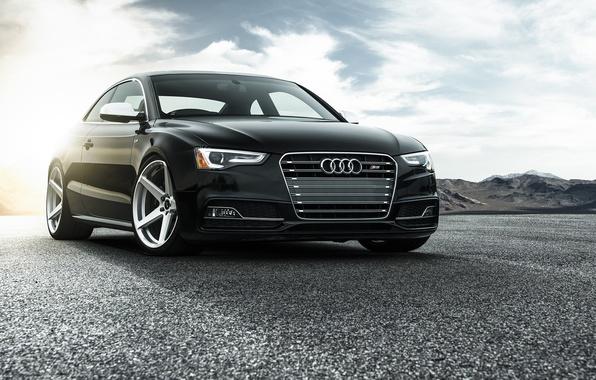 Картинка Audi, Car, Vorsteiner, Black, Sun, Wheels, V-FF, Added, 104
