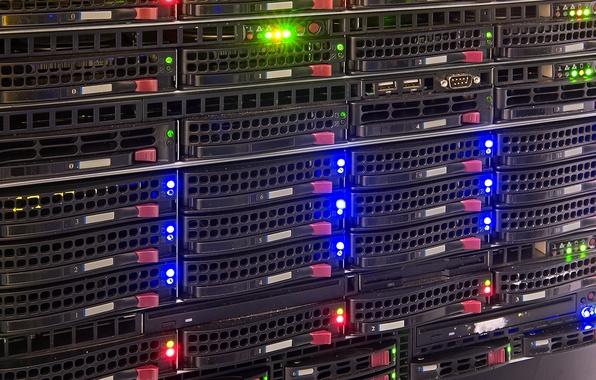 Картинка lights, hard drives, data storage, data center
