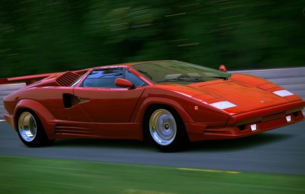 Картинка ретро, Lamborghini, суперкар, Countach, LP400