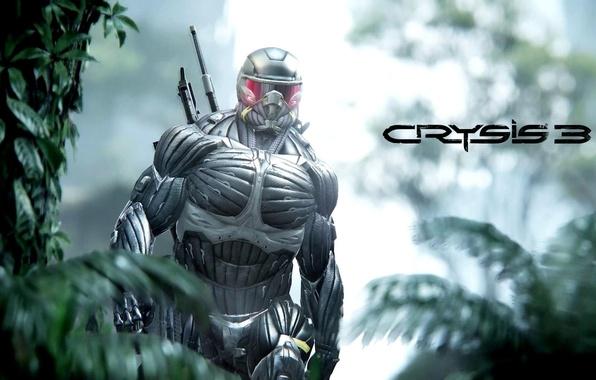 Картинка Crysis, Jungle, Hunter, Nanosuit, Game, Weapon, Crysis 3, Soldier, Helmet, SCI Fi, Nanomed, CryEngine, Critek