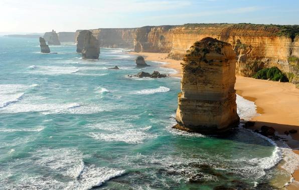 Картинка sea, cliffs, plateaus, Erotion