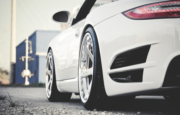 Картинка 911, turbo, white, porsche, cars, auto, wallpapers, вид с зади, Photo, wallpapers auto, обои авто