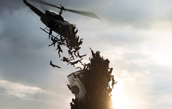 Картинка dark, wallpaper, Brad Pitt, Zombie, dead, man, men, death, World War Z, Plane, Lane, Zomb, …
