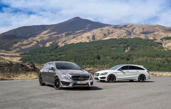 Картинка Mercedes-Benz, мерседес, AMG, амг, Sports Package, Shooting Brake, CLA, 4MATIC, 2015, X117, Orange Art
