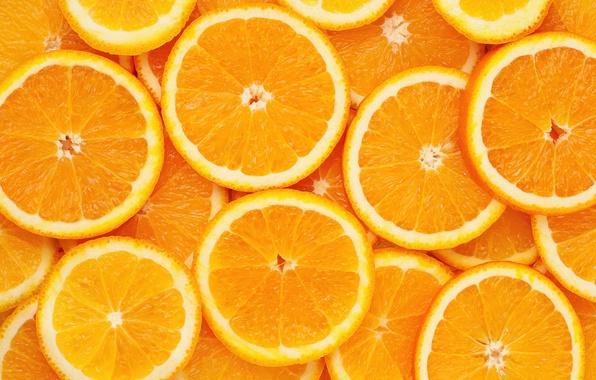 Картинка апельсин, текстура, дольки