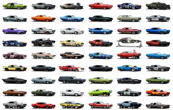 Картинка ретро, спорт, гонки, автомобиль, ралли, Muscle Car