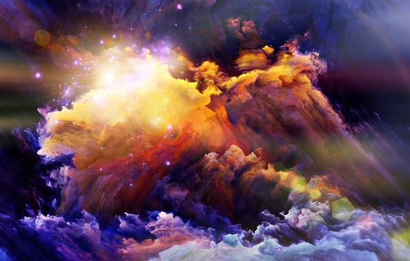 Картинка свет, краски, дым, яркость