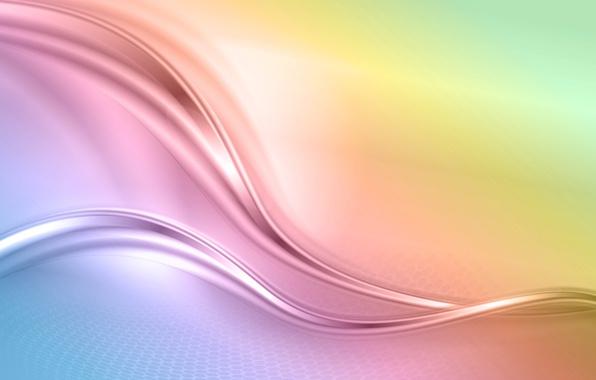 Картинка абстракция, фон, радуга, colors, abstract, waves, rainbow, background, creative