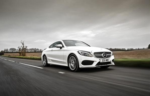 Картинка белый, Mercedes-Benz, мерседес, AMG, Coupe, C-Class, C205