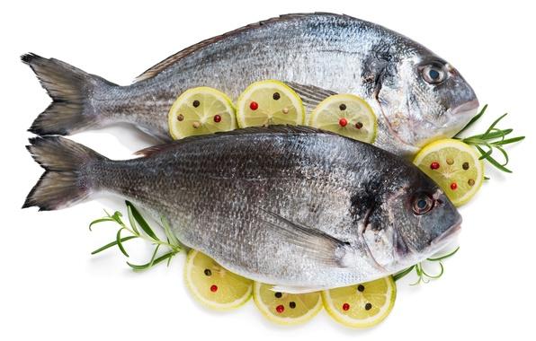 Картинка лимон, рыба, специи, розмарин, дорада