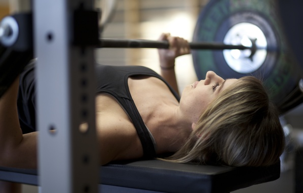 Картинка fitness, gym, weight bar, chest workout