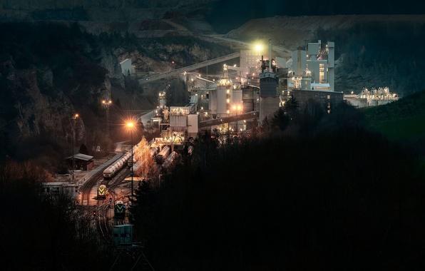 Картинка завод, промышленность, шахта, добыча, комплекс, карьер