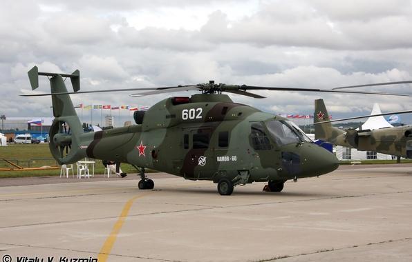 Картинка вертолет, касатка, военно-транспортный, ка 60