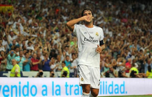 Картинка футбол, real madrid, реал мадрид, football, Рауль, Raul, прощальный матч рауля 2013
