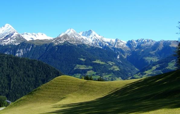 Картинка пейзаж, горы, природа, склоны, Австрия, Альпы