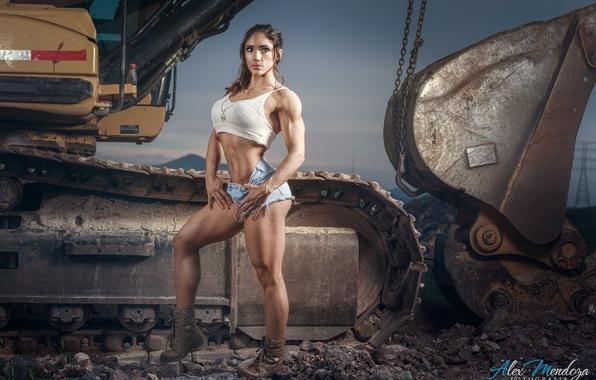 Картинка muscles, pose, female, miss fitness, sandra grajales romero