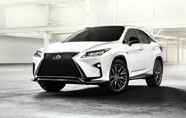 Картинка белый, Lexus, лексус, паркетник, F-Sport, 2015, RX 350