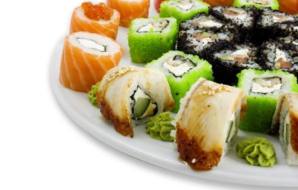 Картинка Еда, art, суши, торелка