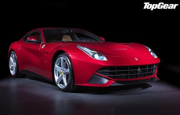 Картинка красный, Феррари, Top Gear, Ferrari, суперкар, полумрак, передок, самая лучшая телепередача, высшая передача, топ гир, …