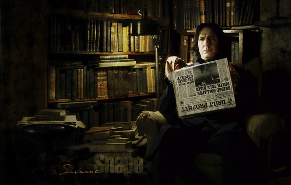 Картинка книги, газета, гарри поттер, Северус Снейп, Alan Rickman, Алан Рикман, Severus Snape, Северус Снегг, harry …