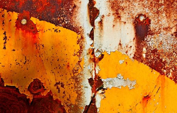 Картинка металл, краска, ржавчина