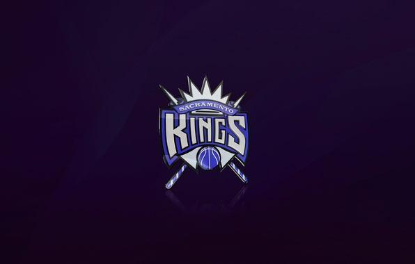 Картинка Баскетбол, Фон, Логотип, Фиолетовый, NBA, Sacramento Kings, Короли
