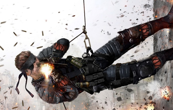Картинка Metal Gear Solid, konami, Naked Snake, Big Boss