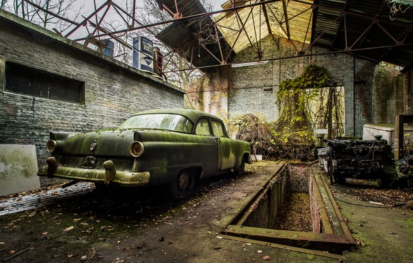 Картинка крыша, Ford, беспорядок, слизь, Fairlane, customline, ТРК