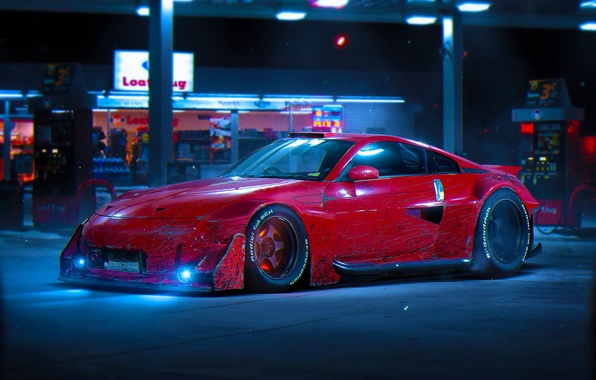 Картинка Nissan, Red, Color, 350Z, Tuning, Future, by Khyzyl Saleem