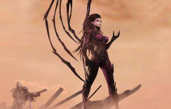 Картинка zerg, Blizzard, StarCraft II, Sarah Kerrigan, Сара Керриган, Королева Клинков, Queen of Blades