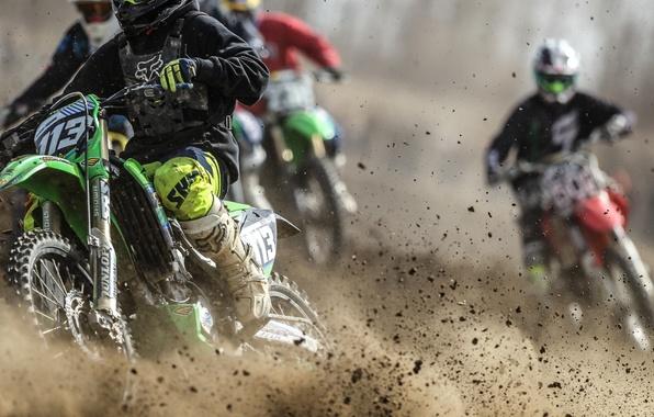 Картинка мотоциклы, гонка, спорт