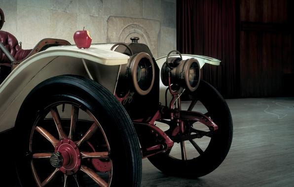 Картинка ретро, яблоко, полумрак, передок, Lancia, Бета, 1909, 15HP, Beta, Torpedo, Лянча