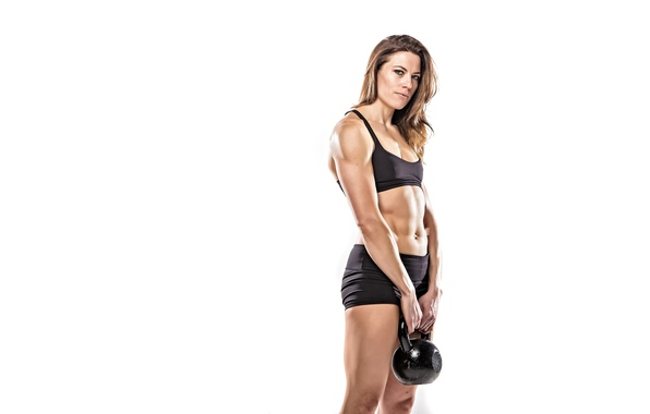 Картинка model, look, pose, fitness, Russian dumbbell