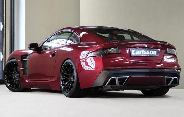 Картинка красный, отражение, блеск, Mercedes-Benz, red, C25, задняя часть, мерседес бенц, (R230), Royale, Carlsson, сл класс, …