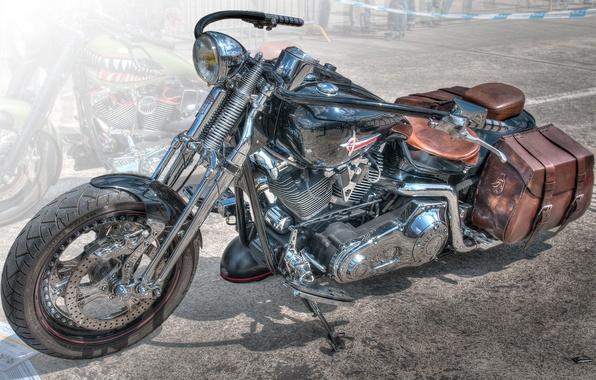 Картинка дизайн, стиль, фон, HDR, мотоцикл, форма, байк, Harley-Davidson