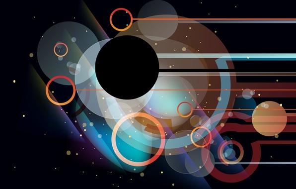 Картинка круги, полосы, фон, абстракции, формы