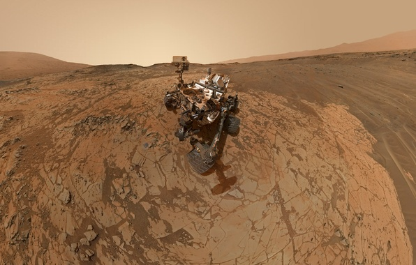 Картинка робот, Марс, NASA, Curiosity, гора Шарп