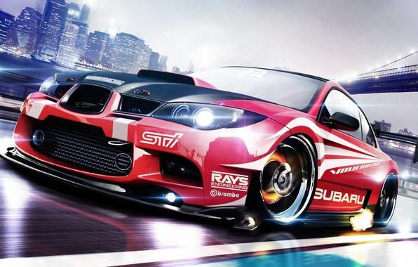 Картинка Subaru, Impreza, WRX, субару, импреза, Race car, STi