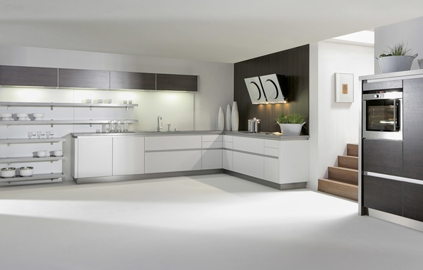 Картинка дизайн, стиль, мебель, кухня, белая, white, design, interior, kitchen, техника., бытовая
