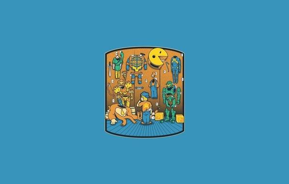 Картинка мальчик, bubbles, выбор, bioshock, pacman, halo, half life, костюмы, mario, The Legend of Zelda, Gordon …