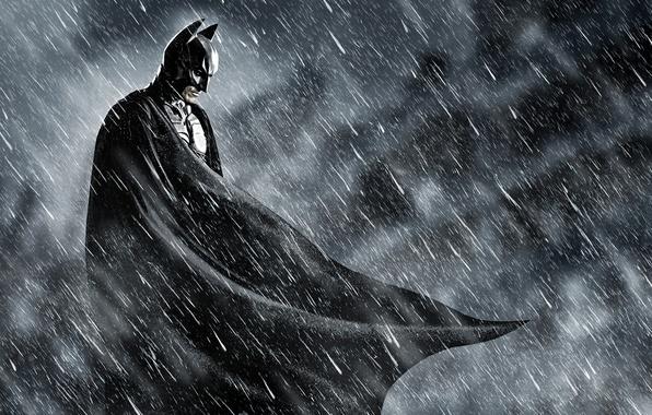 Картинка batman, бэтмен, темный рыцарь, rain, комиксы, comics, dark knight, superhero, возрождение легенды, dark knight rises