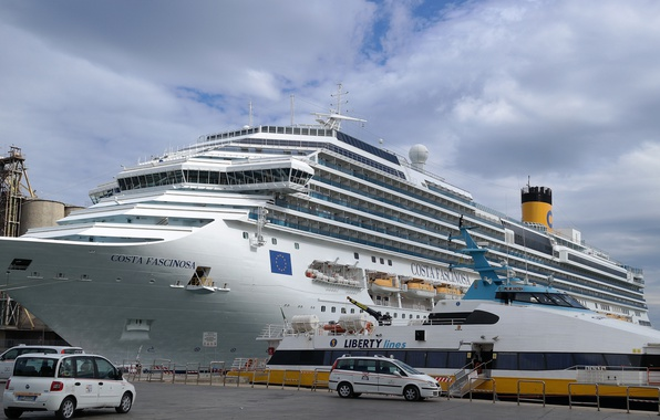 Картинка корабль, яхта, порт, лайнер