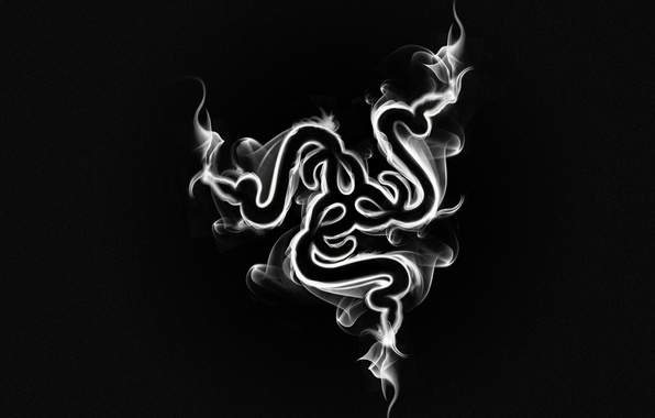 Картинка Минимализм, Дым, Логотип, Black, Razer, Smoke, Hi-Tech