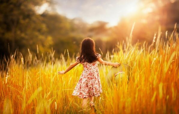 Картинка лето, свет, настроение, девочка