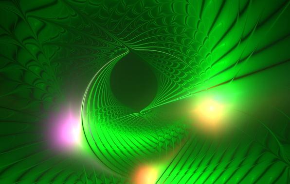 Картинка свет, линии, узор, цвет, спираль