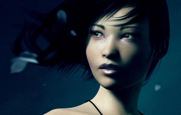 Картинка глаза, девушка, арт, азиатка, artwork